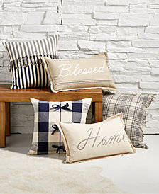 Oxford Collection Farmhouse Decorative Pillow Collection, Created for Macy's