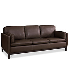"Ventroso 86"" Leather Sofa, Created for Macy's"