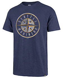 '47 Brand Men's Seattle Mariners Scrum Coop Logo T-Shirt
