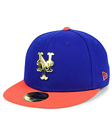 New Era New York Mets Golden Finish 59FIFTY FITTED Cap