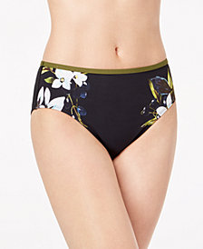 La Blanca Dirty Martini Floral Printed High-Waist Bikini Bottoms