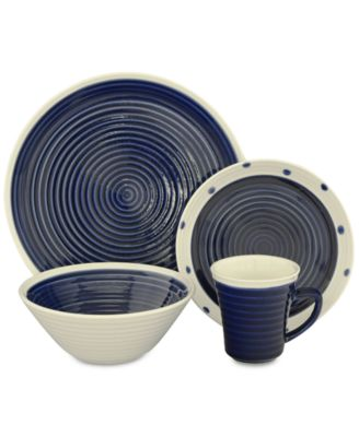 Sango Rico Blue 16-Pc. Dinnerware Set ...  sc 1 st  international-luxury.com & Island style dinnerware for casual meals and relaxed entertaining.