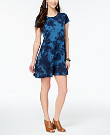 Style & Co Petite Tie-Dyed Swing Dress, Created for Macy's