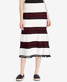Lauren Ralph Lauren Pom-Pom-Trim Skirt