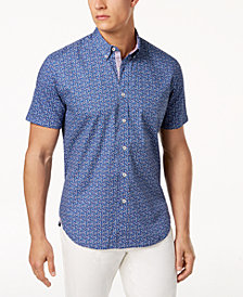 Con.Struct Men's Micro Floral-Print Shirt, Created for Macy's