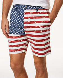 "Con.Struct Men's 7"" Flag Printed Shorts, Created for Macy's"