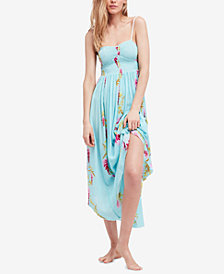 Free People Beau Smocked Printed Midi Dress