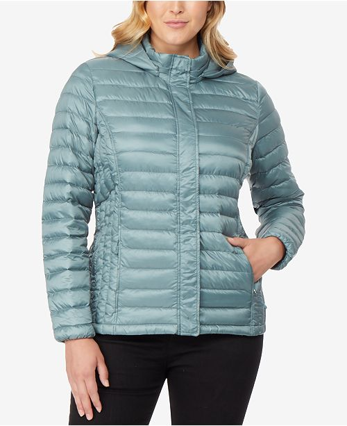 4951aae188c0f 32 Degrees Plus Size Hooded Puffer Coat   Reviews - Coats - Women ...
