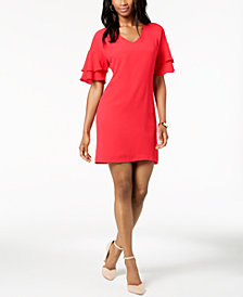 Jessica Howard Petite Ruffle-Sleeve Shift Dress