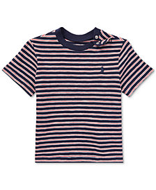 Ralph Lauren Crew-Neck Cotton T-Shirt, Baby Boys