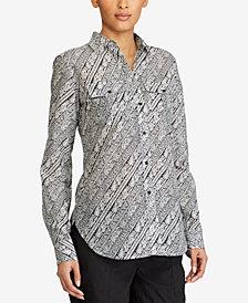 Lauren Ralph Lauren Petite Paisley-Print Shirt