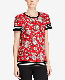 Lauren Ralph Lauren Petite Printed T-Shirt