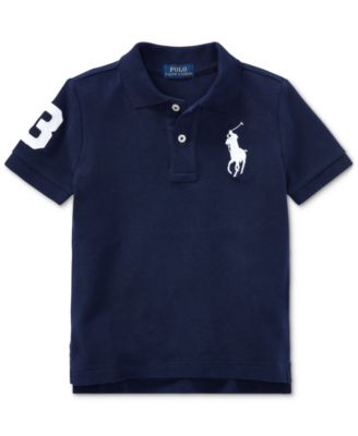 Little Boys Cotton Mesh Polo