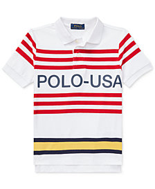Ralph Lauren Little Boys CP-93 Striped Cotton Polo Shirt