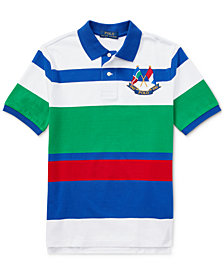 Ralph Lauren Big Boys CP-93 Striped Cotton Jersey Polo Shirt