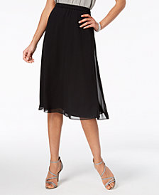 Alex Evenings Chiffon A-Line Skirt, Regular & Petites