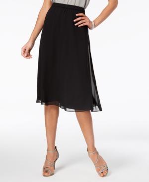 Image of Alex Evenings Chiffon A-Line Skirt, Regular & Petites