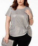 I.N.C. Plus Size Twist Front Top Created for Macys