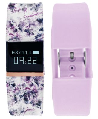 iFitness Pulse Women's Floral & Lavender Silicone Strap Smart Watch 20x18mm