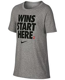 Nike Big Boys Wins-Print T-Shirt