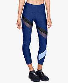 Under Armour HeatGear® Colorblocked Mesh-Inset Ankle Leggings