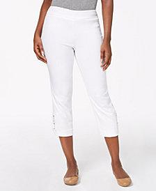 JM Collection Buckle-Hem Capri Pants, Created for Macy's