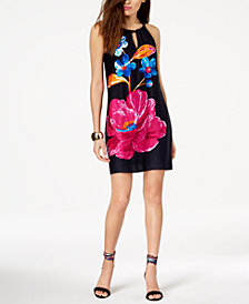 Trina Turk Printed Halter-Neck Shift Dress