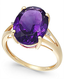 Amethyst (5 ct. t.w.) and Diamond Accent Ring in 14k Gold