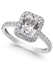 Arabella Swarovski Zirconia Square Ring in 14k White Gold, Created for Macy's