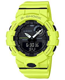 G-Shock Men's Analog-Digital Step Tracker Yellow Resin Strap Watch 48.6mm