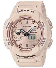 Baby-G Women's Analog-Digital Pink Resin Strap Watch 42.9mm