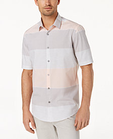 Alfani Men's Large Heathered Stripe Shirt, Created for Macy's