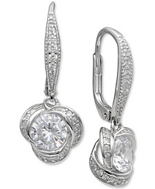 Giani Bernini Cubic Zirconia Love Knot Drop Earrings, Created for Macy's