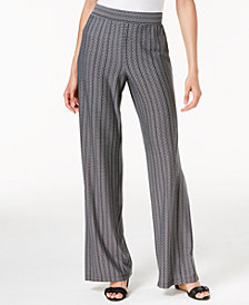 NY Collection Petite Striped Soft Pants