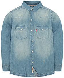 Levi's® Little Boys Denim Pocket Shirt