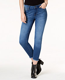 Celebrity Pink Juniors' Raw-Hem Skinny Jeans