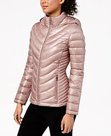 Calvin Klein Petite Hooded Packable Puffer Coat
