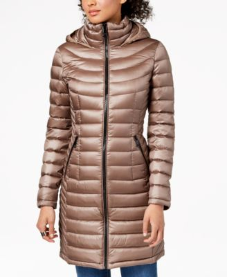 Petite Hooded Packable Down Puffer Coat