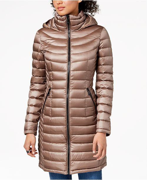 Calvin Klein Hooded Packable Puffer Coat - Coats - Women - Macy s 815a40a4af