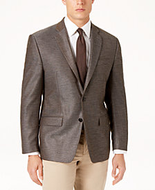 Lauren Ralph Lauren Men's Classic-Fit Ultraflex Stretch Beige Mini-Herringbone Sport Coat