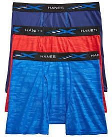 Hanes Little & Big Boys 3-Pk. Embossed Boxer Briefs