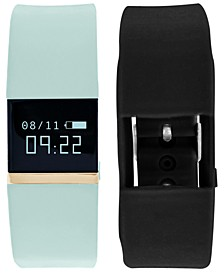 iFitness Pulse Women's Black & Mint Silicone Strap Smart Watch 20x18mm