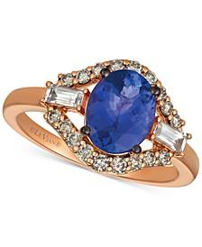 Strawberry & Nude™ Multi-Gemstone (2 ct. t.w.) & Diamond (1/3 ct. t.w.) Ring in 14k Rose Gold