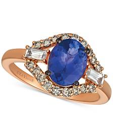 Le Vian® Strawberry & Nude™ Multi-Gemstone (2 ct. t.w.) & Diamond (1/3 ct. t.w.) Ring in 14k Rose Gold