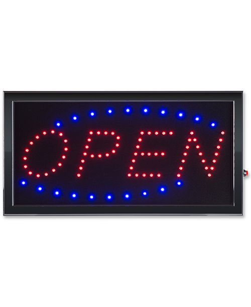 Trademark Global Open Lighted Neon Electric Display Sign with Animation & Energy Efficient LED