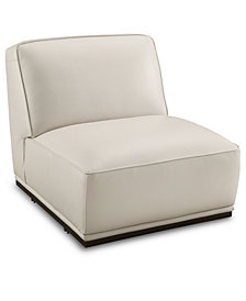"Zeraga 30"" Leather Armless Chair, Created For Macy's"