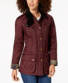 Barbour Beadnell Polarquilt Fleece-Lined Coat