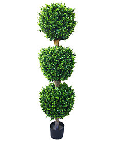 Hedyotis Triple Ball 5 Ft. Artificial Tree by Pure Garden