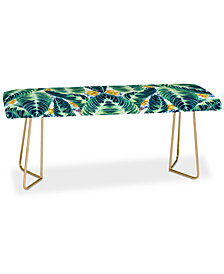 Deny Designs Marta Barragan Camarasa Tropical Leaf Bench