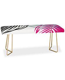 Deny Designs Emanuela Carratoni Trychromy Palms Bench